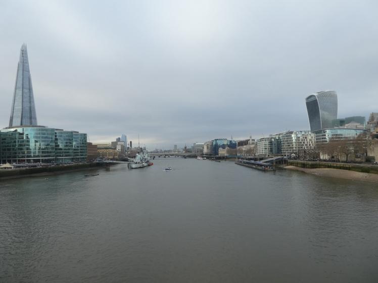 So modern London